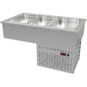 Ванна холодильная встраиваемая, L1.09м, 3GN1/1, 0/+8С, нерж.сталь