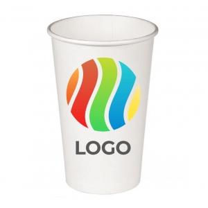 Стакан бумажный для холодных напитков 400мл с ЛОГОТИПОМ