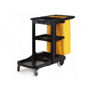 Тележка L 116,8см w 55,2см h 97,5см гостиничная для уборки на колесах, пластик черный