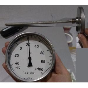 Термометр биметалический механический погружной (со щупом)