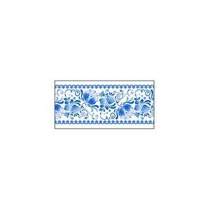 Панель фронтальная декоративная для прилавка для столовых приборов и прилавка кассового линии раздачи Ревьера, L0.70м, гжель, левая