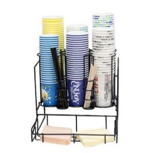 Подставка 6 секции для стаканов и 2 секция для трубочек