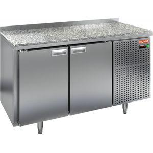 Стол холодильный, GN2/3, L1.39м, борт H50мм, 2 двери глухие, ножки, -2/+10С, нерж.сталь, дин.охл., агрегат справа, столеш.камень
