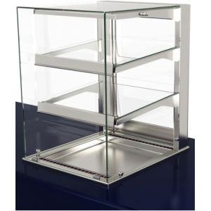 Витрина холодильная встраиваемая, L0.60м, 2 полки, +2/+10С, дин.охл., нерж.сталь, стекло фронтальное прямое, LED подсветка, выносной ПУ