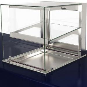 Витрина холодильная встраиваемая, L0.80м, 1 полка, +2/+10С, дин.охл., нерж.сталь, стекло фронтальное прямое, LED подсветка, выносной ПУ