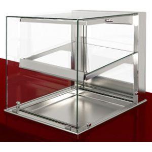 Витрина тепловая встраиваемая, вертикальная, L0.80м, 1 полка стекло, +30/+80С, нерж.сталь, LED подсветка, прямое стекло