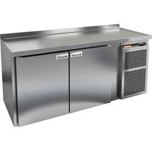 Cтол холодильный для кег и розлива пива, L1.95м, борт H50мм, 2 двери глухие, ножки, 590л, +2/+10С, нерж.сталь, дин.охл., агрегат правый, 3 кеги