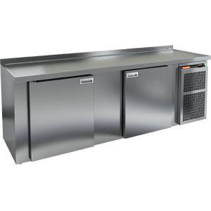 Cтол холодильный для кег и розлива пива, L2.40м, борт H50мм, 2 двери глухие, ножки, 770л, +2/+10С, нерж.сталь, дин.охл., агрегат правый, 4 кеги