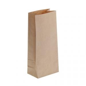 Пакет бумажный 170х80х50мм прямоугольное дно крафт