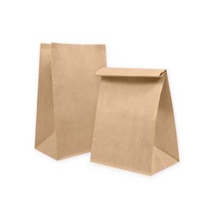 Пакет бумажный 290х180х120мм прямоугольное дно крафт 70г