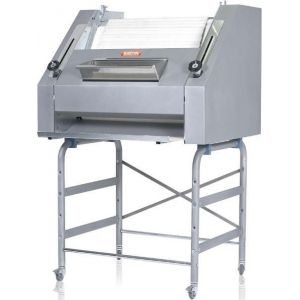 Тестозакатка для багетов электрическая напольная, ширина 700мм, вес заготовки 120-1200г, нерж.сталь, колеса, 3 цилиндра