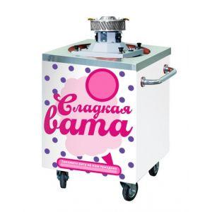 Тележка для аппарата сахарной ваты, маленькие колёса, белая