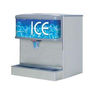 Диспенсер для льда, бункер 113кг, корпус нерж.сталь, рекламная вывеска