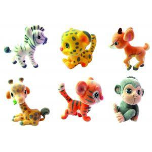 Игрушки-животные ДЖУНГЛИ - МЕДОВАЯ САВАННА пластик с текстильным напылением