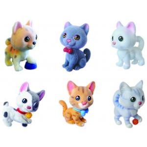 Игрушки-животные КОШЕЧКИ - ПОЛОСАТЫЕ ЦАРАПКИ пластик с текстильным напылением