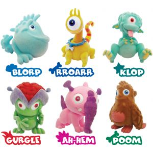Игрушки-животные МОНСТРЫ - 2 пластик с текстильным напылением