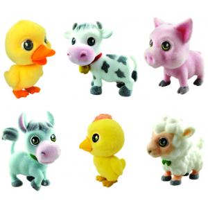 Игрушки-животные НА ФЕРМЕ пластик с текстильным напылением