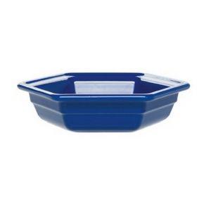 Салатник шестиугольный 1,2л, керамика, голубой