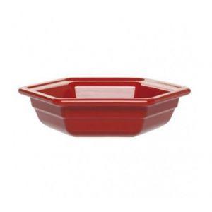 Салатник шестиугольный 1,2л, керамика, красный