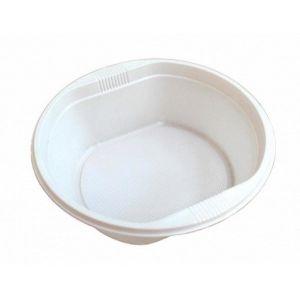 Тарелка суповая 500мл пластик белый