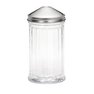 Емкость 355мл для специй с одним отверстием, пластик прозрачный