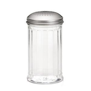 Емкость 355мл для специй со множеством отверстий, пластик прозрачный