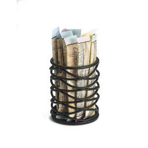 Держатель для пакетированного сахара D 5см h 6,5см, металл цвет черный