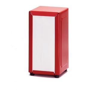 Диспенсер для салфеток L 12см w 10см h 19см, металл красный