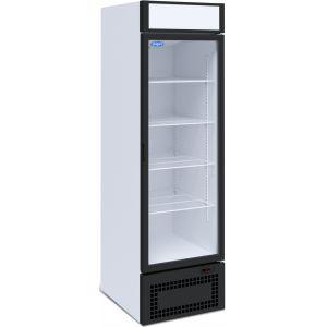 Шкаф холодильный,  500л, 1 дверь стекло, 4 полки, ножки, -6/+6С, дин.охл., белый, агрегат нижний, канапе