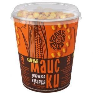 Обжаренные хрустящие зерна кукурузы «Маиски» сырные 50г.