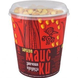 Обжаренные хрустящие зерна кукурузы «Маиски» барбекю 50г.