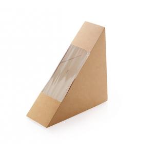 Коробка для сэндвича 130x130x40мм картон крафт