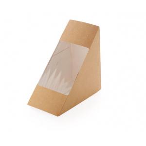 Коробка для сэндвича 130x130x70мм картон крафт