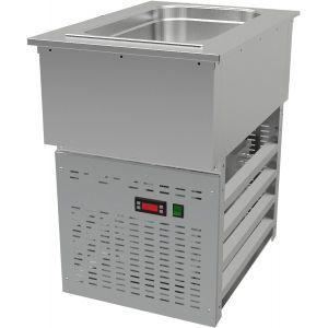 Ванна холодильная встраиваемая, L0.44м, 1GN1/1, 0/+8С, нерж.сталь