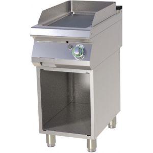 Гриль-сковорода газовая, 1 зона, поверхность гладкая хромированная, стенд полузакрытый без двери, магистральный газ