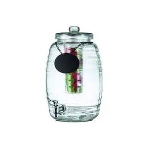 Диспенсер для напитков 9,5л D 27,5см h 41см с этикеткой, стекло/нерж.сталь