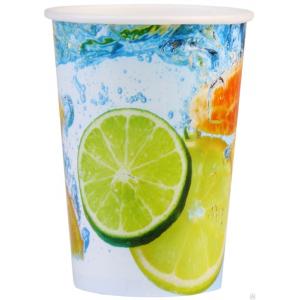 Стакан бумажный для холодных напитков Лимонад 400мл