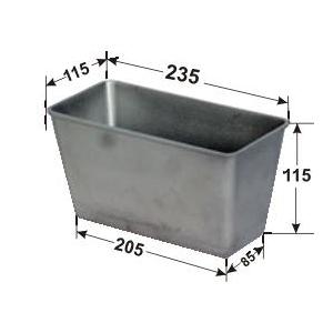 Форма для выпечки хлеба L 23,5см w 11,5см h 11,5см 760г 3 секции без ручек, алюминий