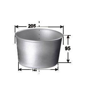 Форма для выпечки хлеба D 20,5см d 14,5см h 9,5см 770г 3 секции без ручек, алюминий