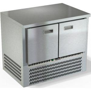 Стол морозильный, GN1/1, L1.00м, без борта, 2 двери глухие, ножки, -10/-18С, нерж.сталь, дин.охл., агрегат нижний