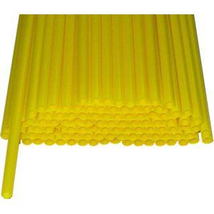 Палочки пластиковые для сахарной ваты, длина 370мм., диаметр 5мм, желтые
