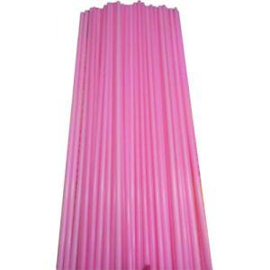 Палочки пластиковые для сахарной ваты, длина 370мм., диаметр 5мм, розовые