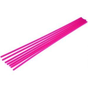 Палочки пластиковые для сахарной ваты, длина 370мм., диаметр 5мм, фуксия