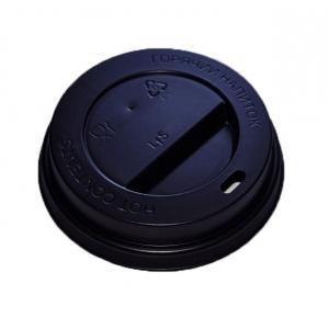 Крышка для стакана 100мл D 62мм пластик черный без носика
