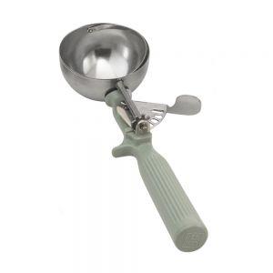Ложка для мороженого #8 118мл с серой ручкой, нерж.сталь