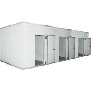 Камера комбинированная из строительных панелей,  22.00м3, h2.20м, 3 двери расп.правые, ППУ80мм