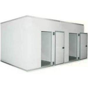 Камера комбинированная из строительных панелей,   8.60м3, h2.20м, 2 двери расп.правые, ППУ80мм