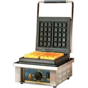 Вафельница электрическая настольная для вафель «бельгийских», 1 поверхность квадратная чугун, 2 сегмента (100х170мм), упр.электромех.
