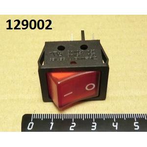 Выключатель с подсветкой, красный 16А