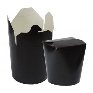 Контейнер для азиатской кухни 500мл чёрный бумага